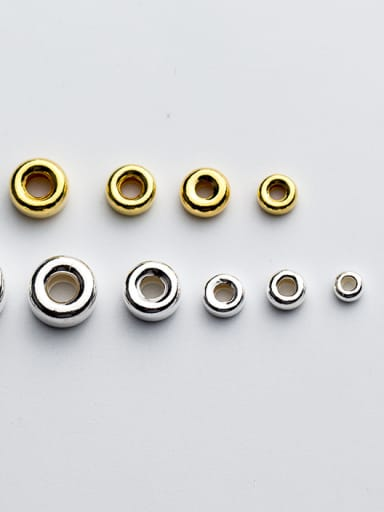 925 Sterling Silver With 18k Gold Plated Classic Round Beads