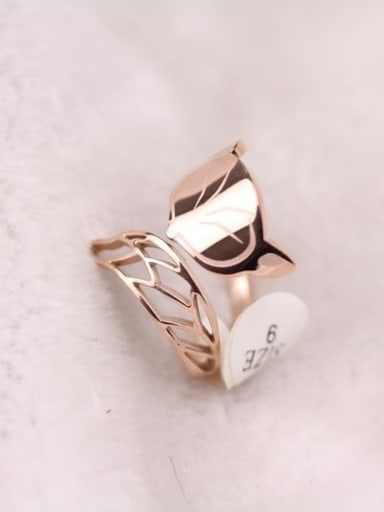 Small Fox Rose Gold Plated Ring