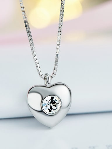 2018 S925 Silver Heart-shaped Necklace