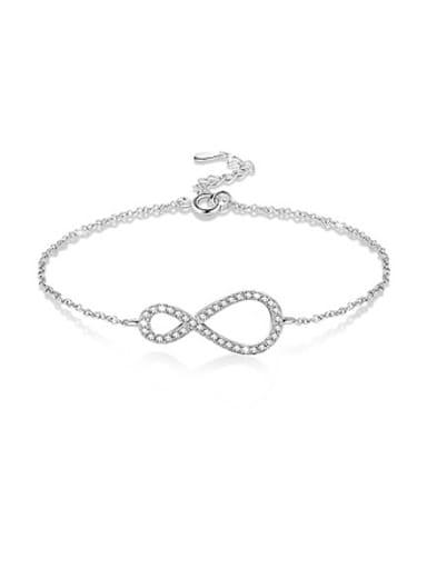 Women Personality Figure Eight Rhinestone Bracelet