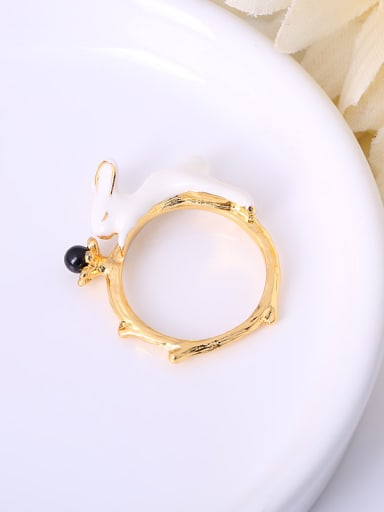 Lovely Rabbit Shaped Natural Stone Ring
