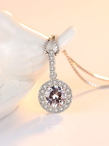 Sterling Silver classic AAA Zircon Necklace