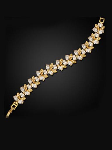 Fashion Leaves shaped Zircon Bracelet
