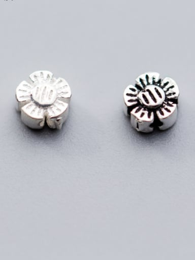 925 Sterling Silver With Silver Plated Classic Flower Charms