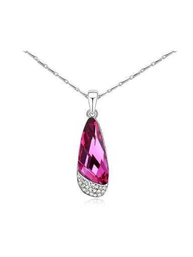 Simple Water Drop Swarovski Crystals Alloy Necklace