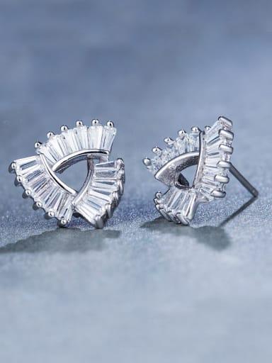 925 Silver Zircon Cluster earring