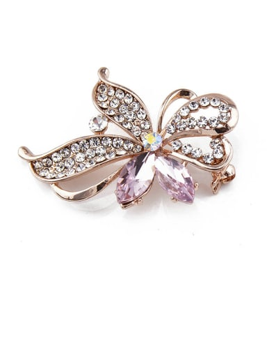 new 2018 2018 2018 2018 Rose Gold Plated Crystals Brooch