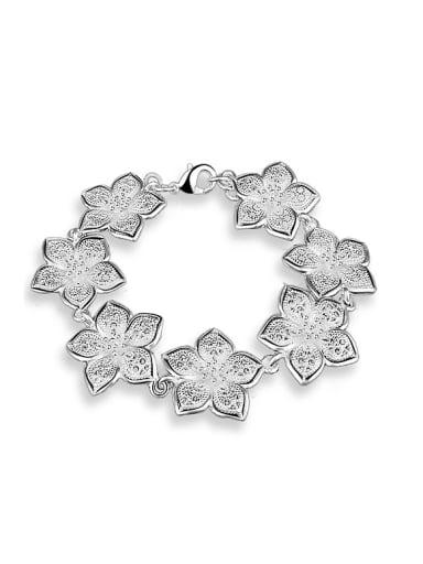 Fashion Rosary Flowers Copper Bracelet