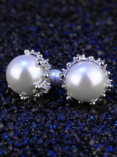 Simple Elegant Artificial Pearls Stud Earrings