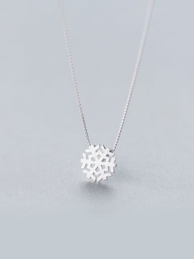 S925 silver small snow necklace