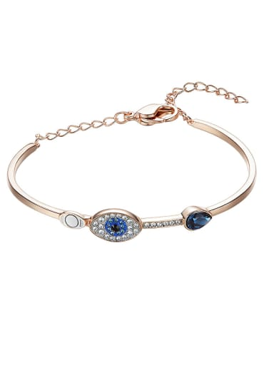 Rose Gold Eye-shaped Crystal Bracelet