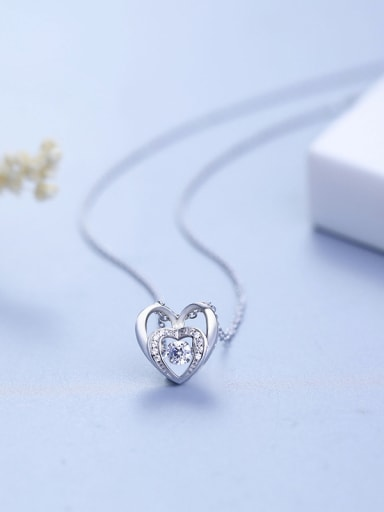 Double Heart-shaped Necklace