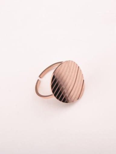 Geometric Circular Smooth Disc Opening Ring