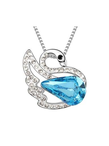 Elegant Swarovski Crystals Swan Pendant Alloy Necklace