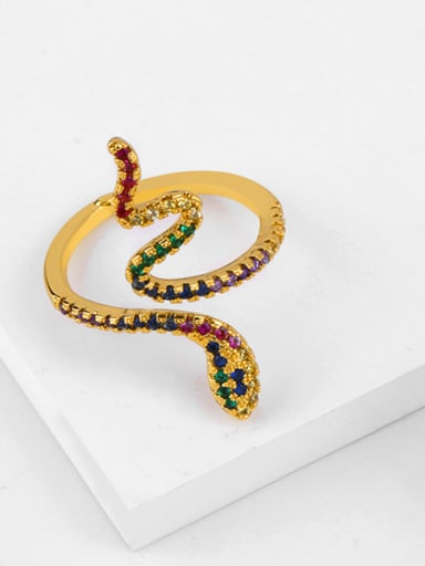 Copper With Cubic Zirconia Personality Animal snake Rings