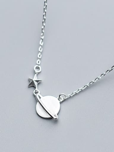 "Pure silver ""dream the future"" star necklace"