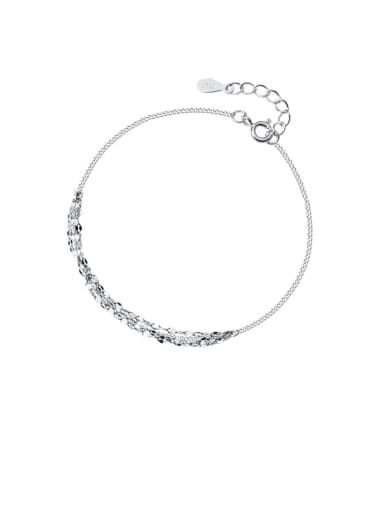 925 Sterling Silver With  Platinum Plated Fashion  Wave pattern Bracelets
