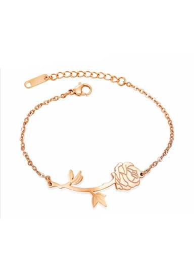Stainless Steel With Rose Gold Plated Fashion Rosary Bracelets