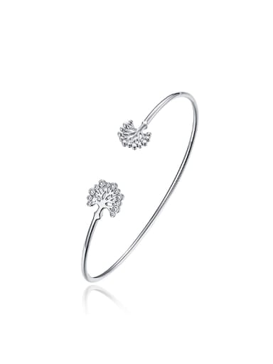 Simple Little Trees Opening Bangle