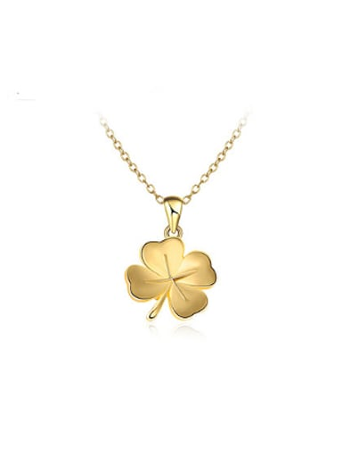 All-match Gold Plated Clover Shaped Necklace