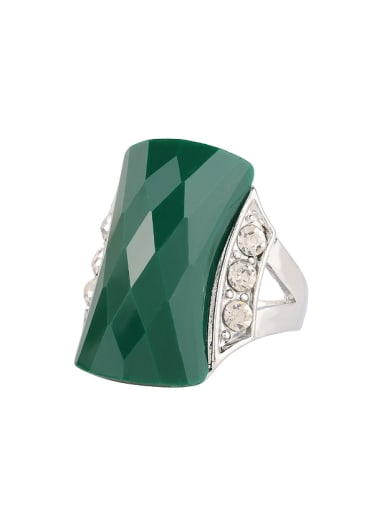 Personalized AAA Resin Crystals Ring