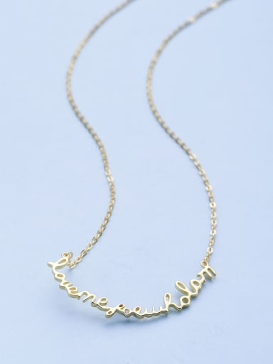 Gold Plated Monogrammed Necklace