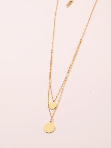 Titanium With Gold Plated Fashion Round Multi Strand Necklaces