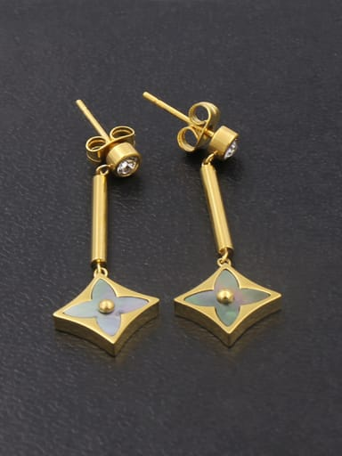Exquisite Fashionable Geometric  Shaped Women Drop Earrings