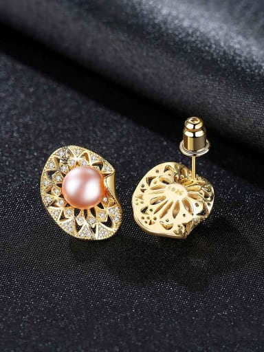 925 Sterling Silver Luxury Irregular Stud Earrings