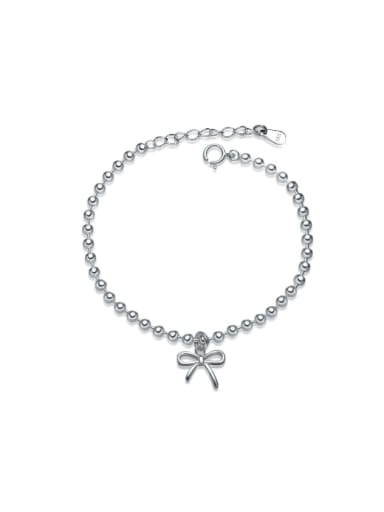 Lovely Bow Shaped Accessories Fashion Silver Bracelet