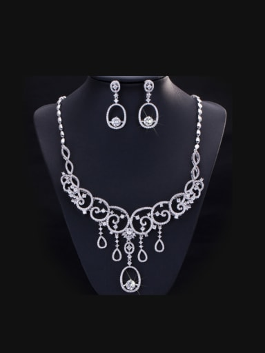 Noble Bridal Accessory Two Pieces Jewelry Set