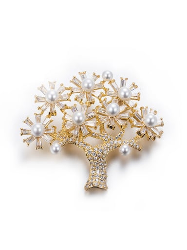 Tree Shaped Pearl Necklace
