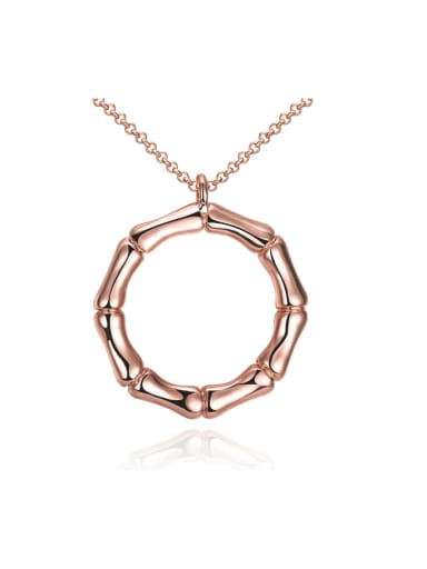 Rose Gold Simply Style Necklace