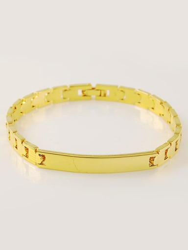 Unisex 24K Gold Plated Water Band Shaped Bracelet