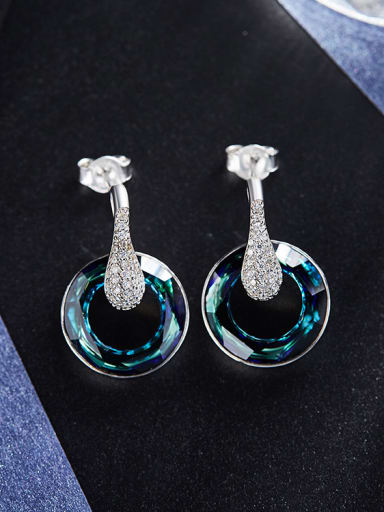 S925 Silver Round Shaped drop earring