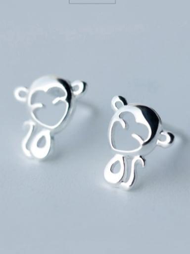 S925 Silver Cute Monkey Small stud Earring
