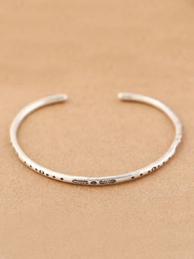 Simple Handmade Opening Silver Bangle