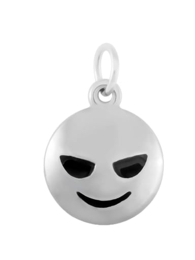 Stainless Steel With Silver Plated Punk Face Charms