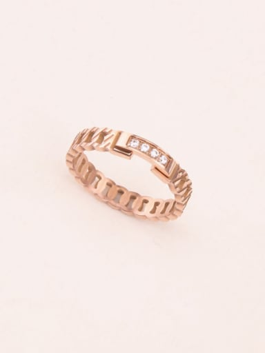 Zircons Rose Gold Plated Ring