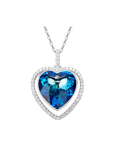 2018 2018 Swarovski Crystals Heart-shaped Necklace