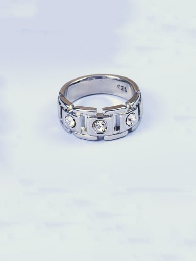Copper With Platinum Plated Simplistic Geometric Band Rings