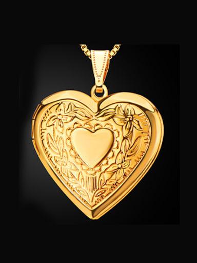Retro Heart-shaped Box Necklace