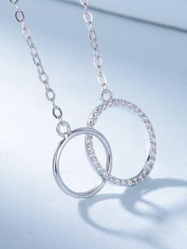 All-match Double Circle Necklace