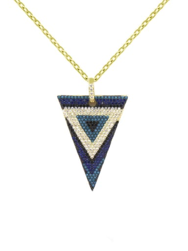 Middle East Micro Pave Colorful Triangle Necklace
