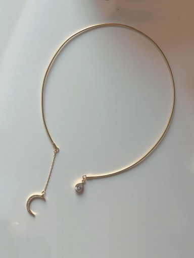 925 Sterling Silver With Gold Plated Simplistic Water Drop Necklaces