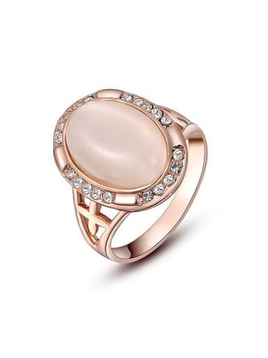 Women Trendy Oval Shaped Opal Ring