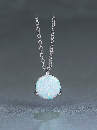 2018 S925 Silver Round Necklace