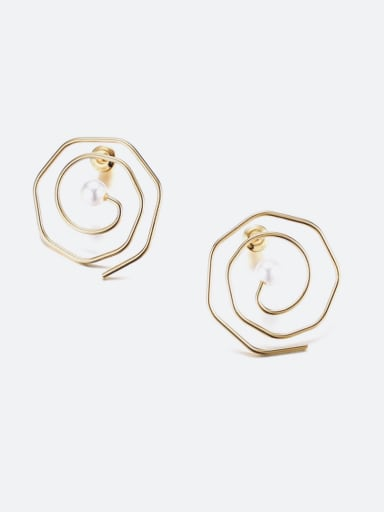 New minimalist vortex unique stainless steel earrings