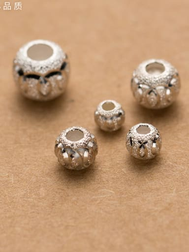 925 Sterling Silver With Silver Plated Fashion Round Charms