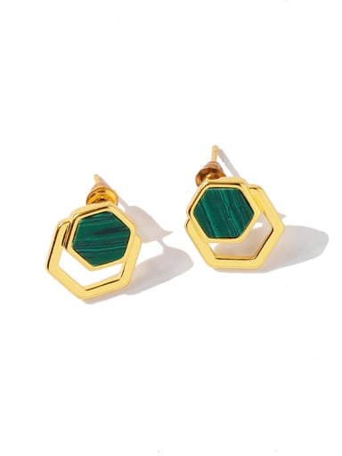 Copper With Gold Plated Simplistic Geometric Drop Earrings
